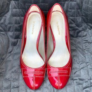 Liz Claiborne Red Patent Jordana Heels Size 9